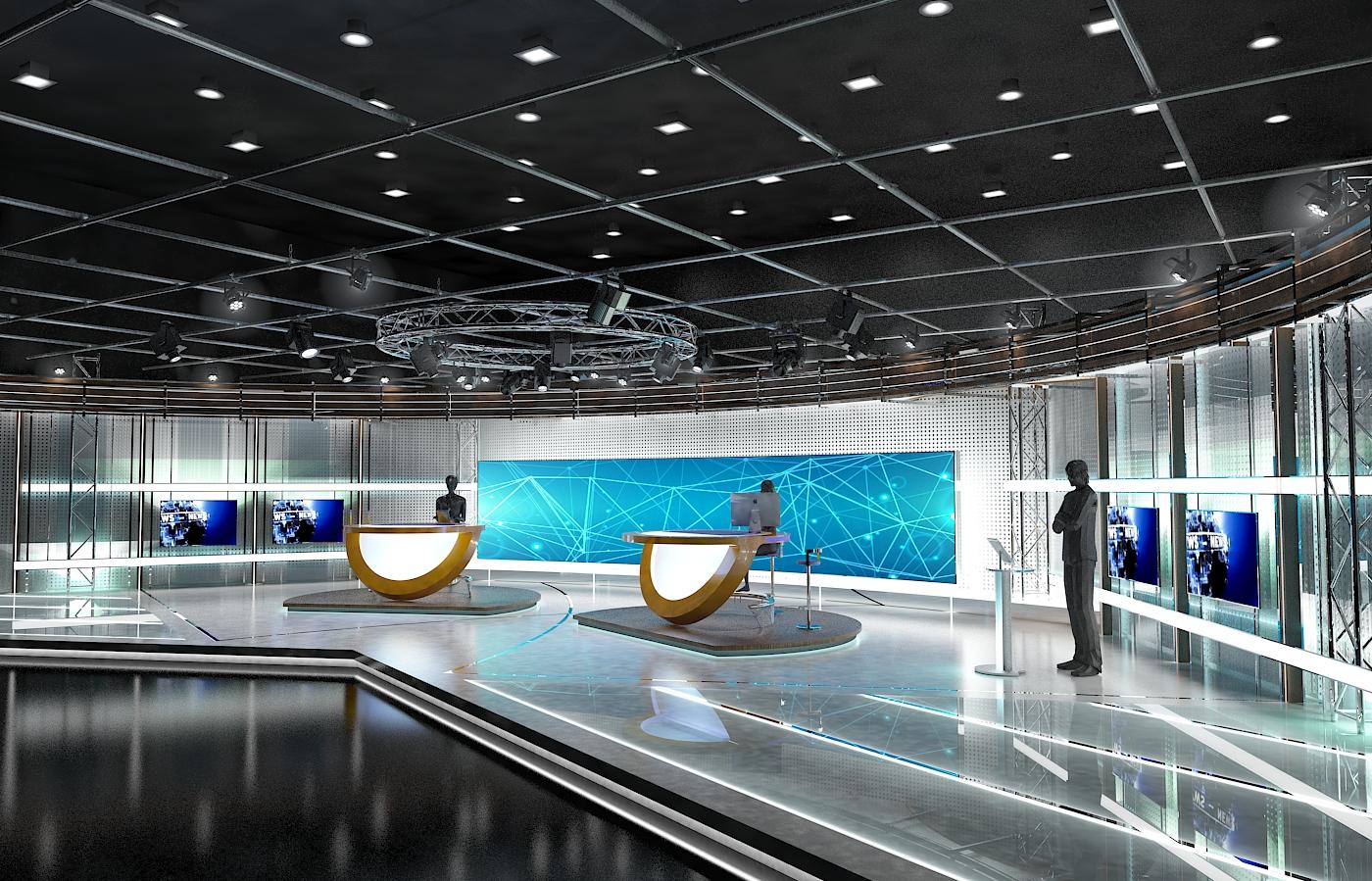 виртуал телевизийн студи цуглуулга vol 6 3d загвар max dxf dwg fbx obj 223395
