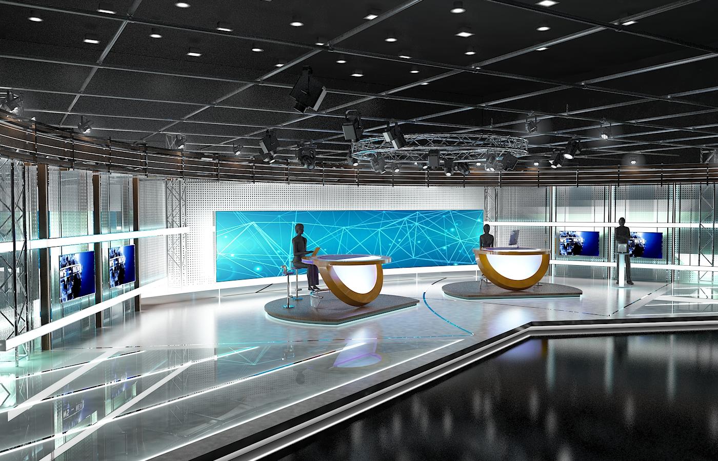 виртуал телевизийн студи цуглуулга vol 6 3d загвар max dxf dwg fbx obj 223397