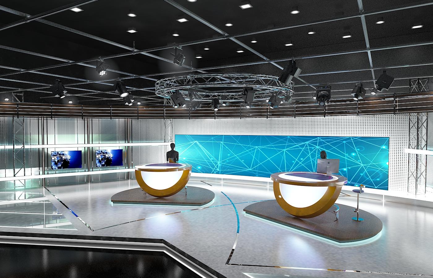 виртуал телевизийн студи цуглуулга vol 6 3d загвар max dxf dwg fbx obj 223399