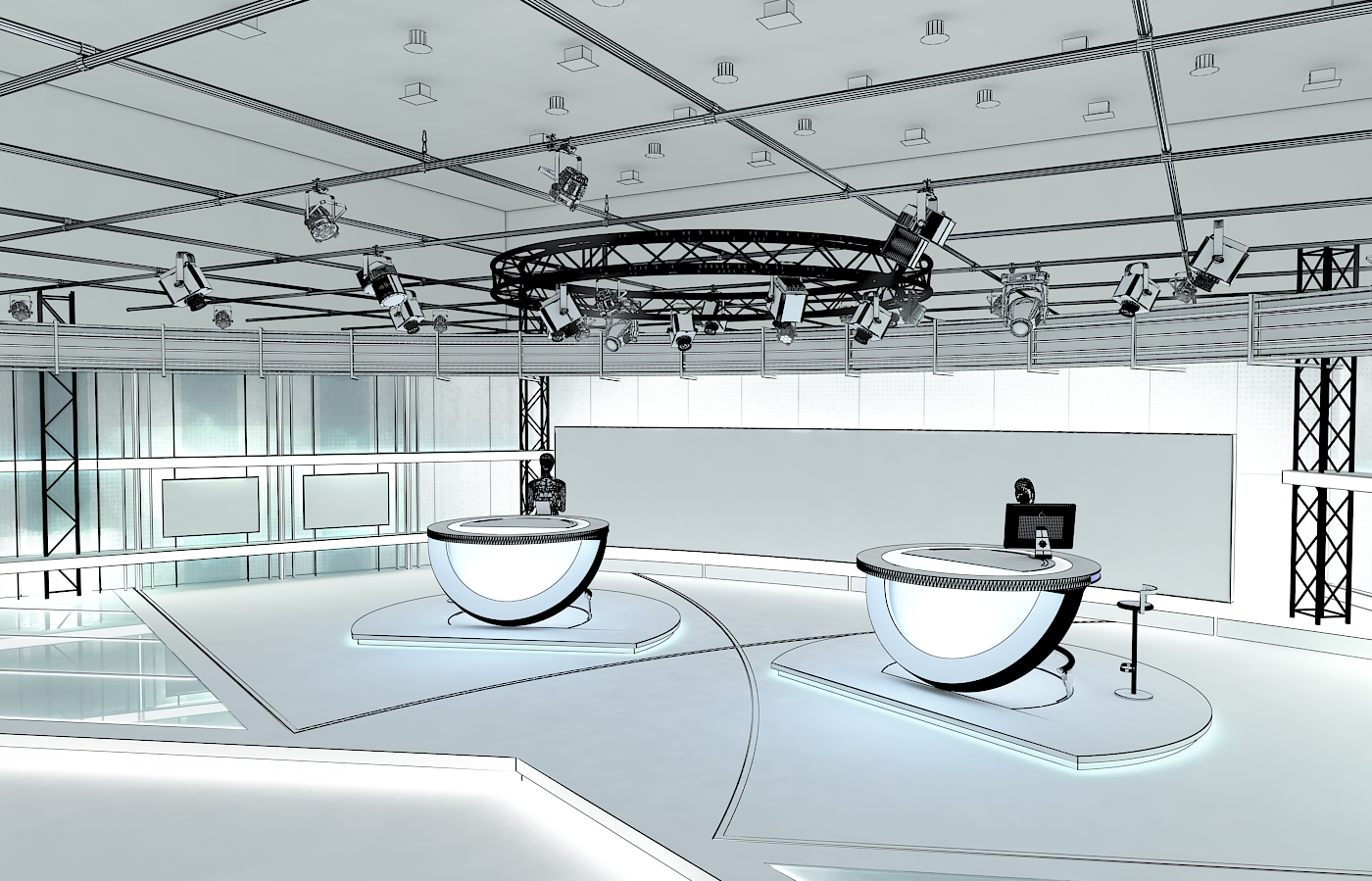 виртуал телевизийн студи цуглуулга vol 6 3d загвар max dxf dwg fbx obj 223400