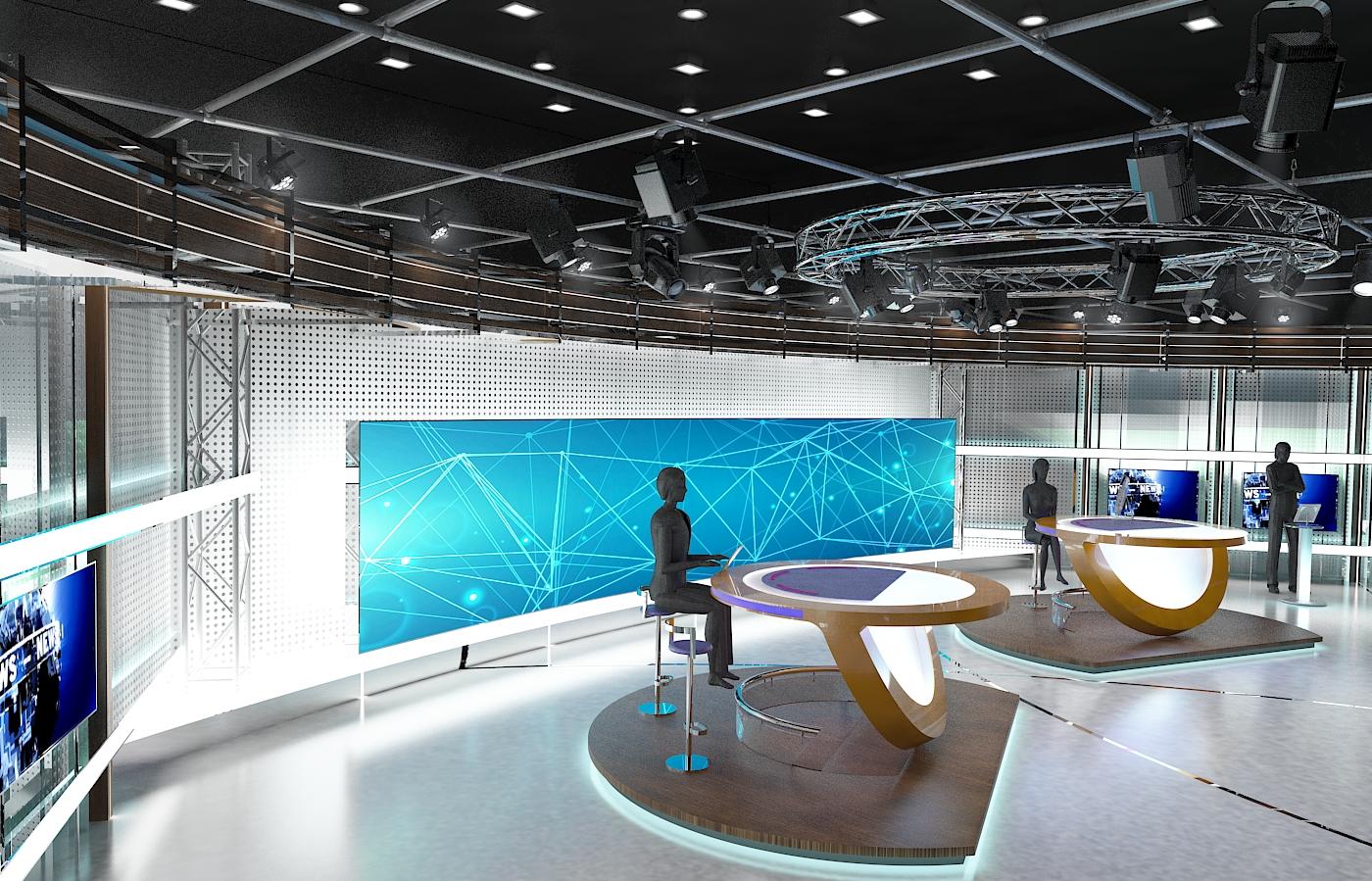 виртуал телевизийн студи цуглуулга vol 6 3d загвар max dxf dwg fbx obj 223401