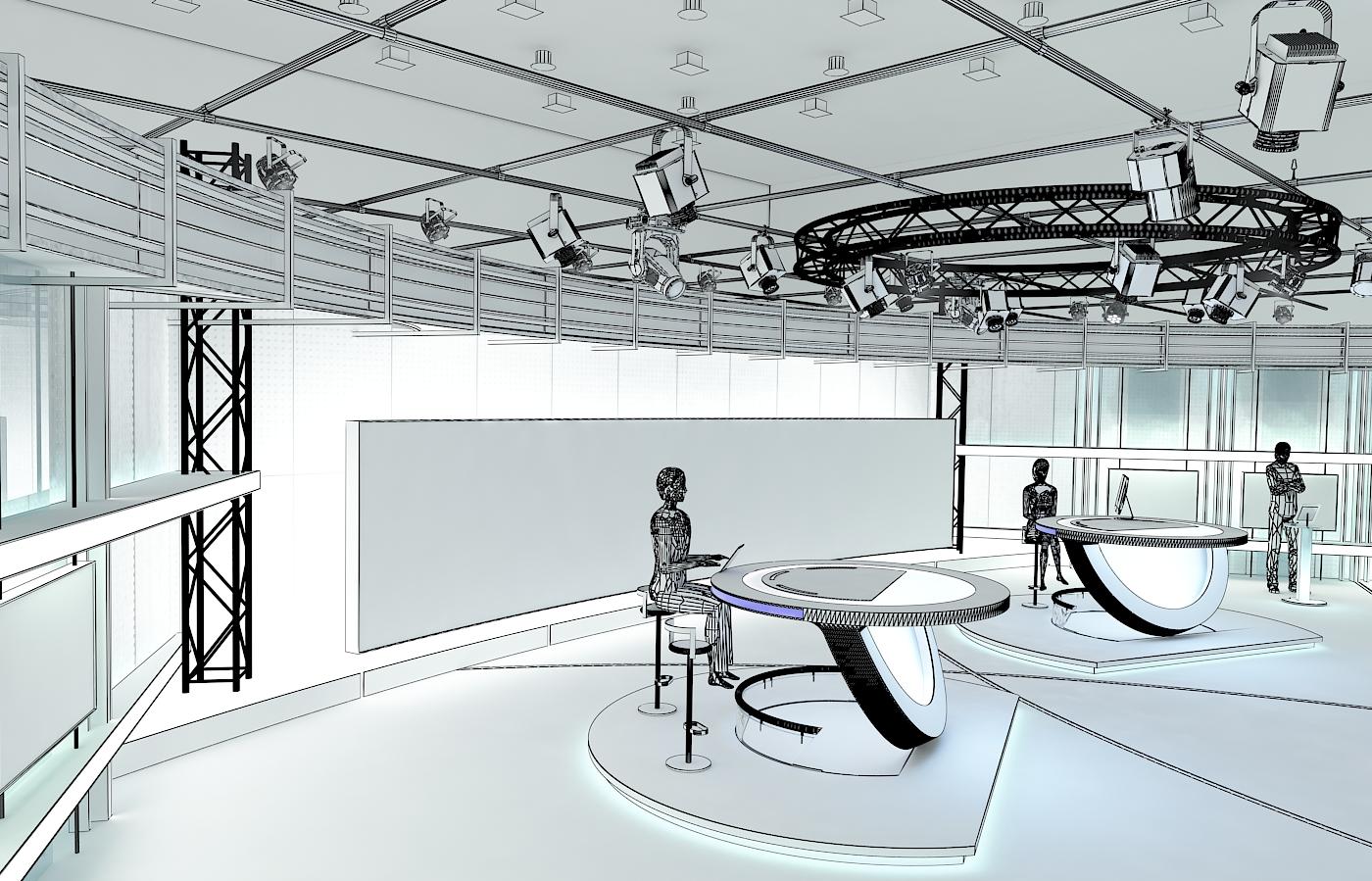 виртуал телевизийн студи цуглуулга vol 6 3d загвар max dxf dwg fbx obj 223402