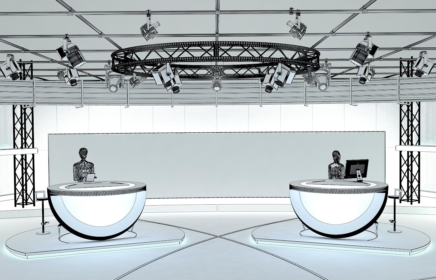 виртуал телевизийн студи цуглуулга vol 6 3d загвар max dxf dwg fbx obj 223404