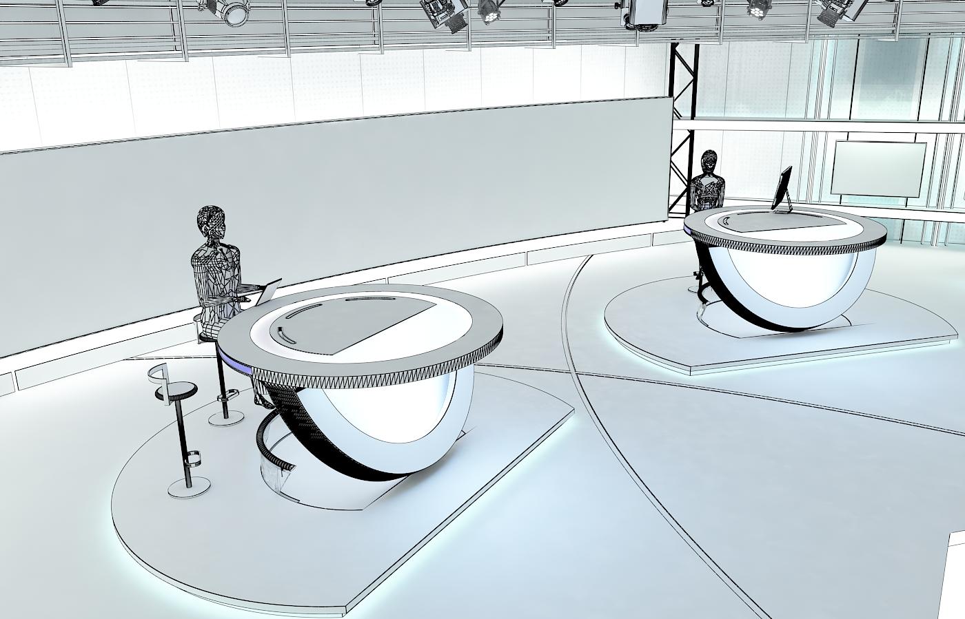 виртуал телевизийн студи цуглуулга vol 6 3d загвар max dxf dwg fbx obj 223406