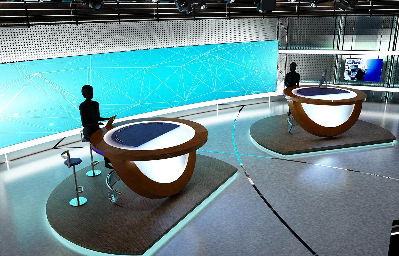 виртуал телевизийн студи цуглуулга vol 6 3d загвар max dxf dwg fbx obj 223407