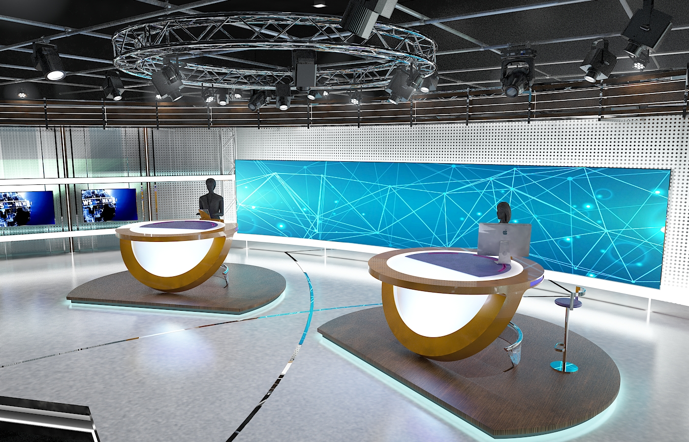 виртуал телевизийн студи цуглуулга vol 6 3d загвар max dxf dwg fbx obj 223408