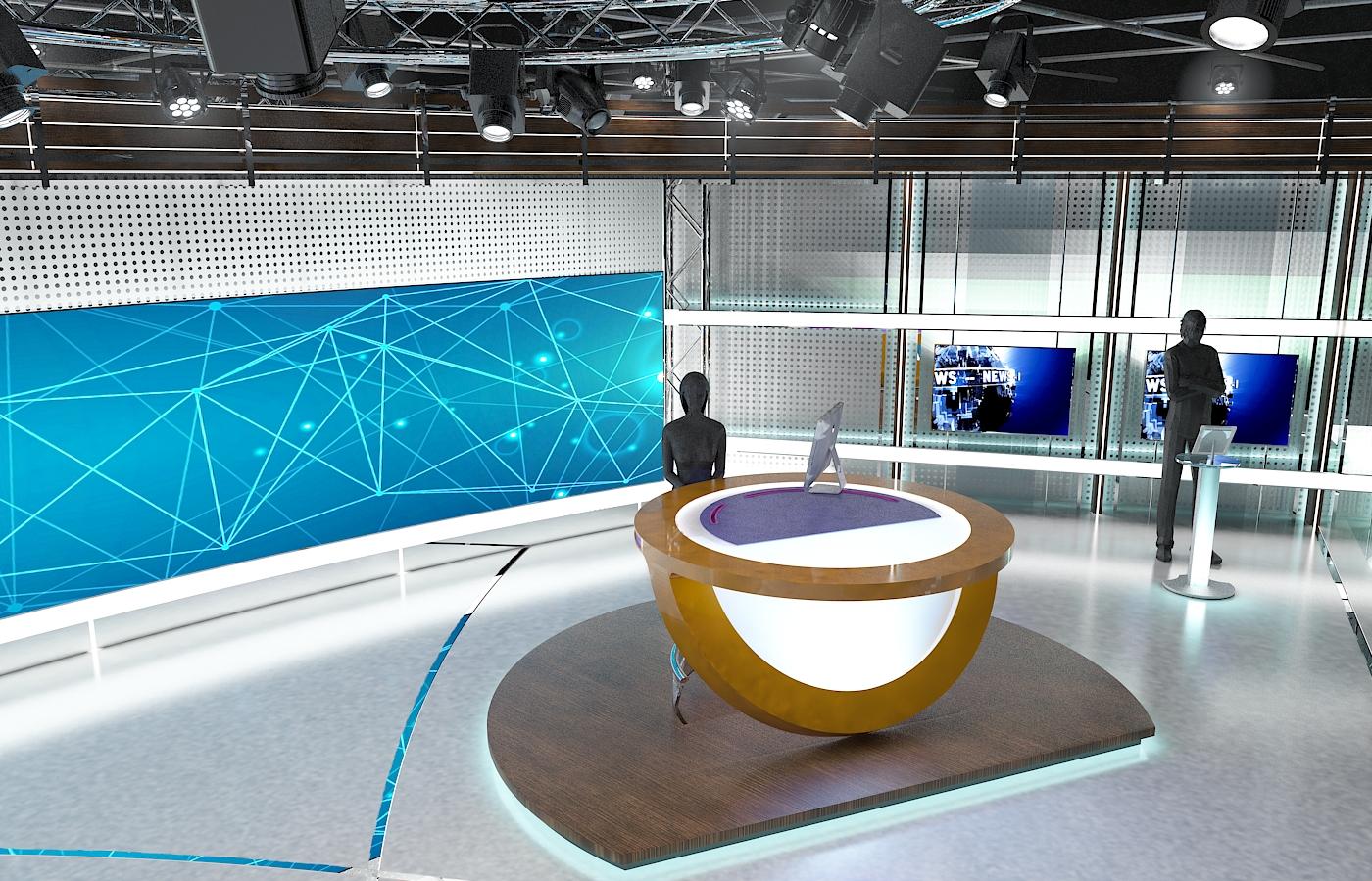 виртуал телевизийн студи цуглуулга vol 6 3d загвар max dxf dwg fbx obj 223410