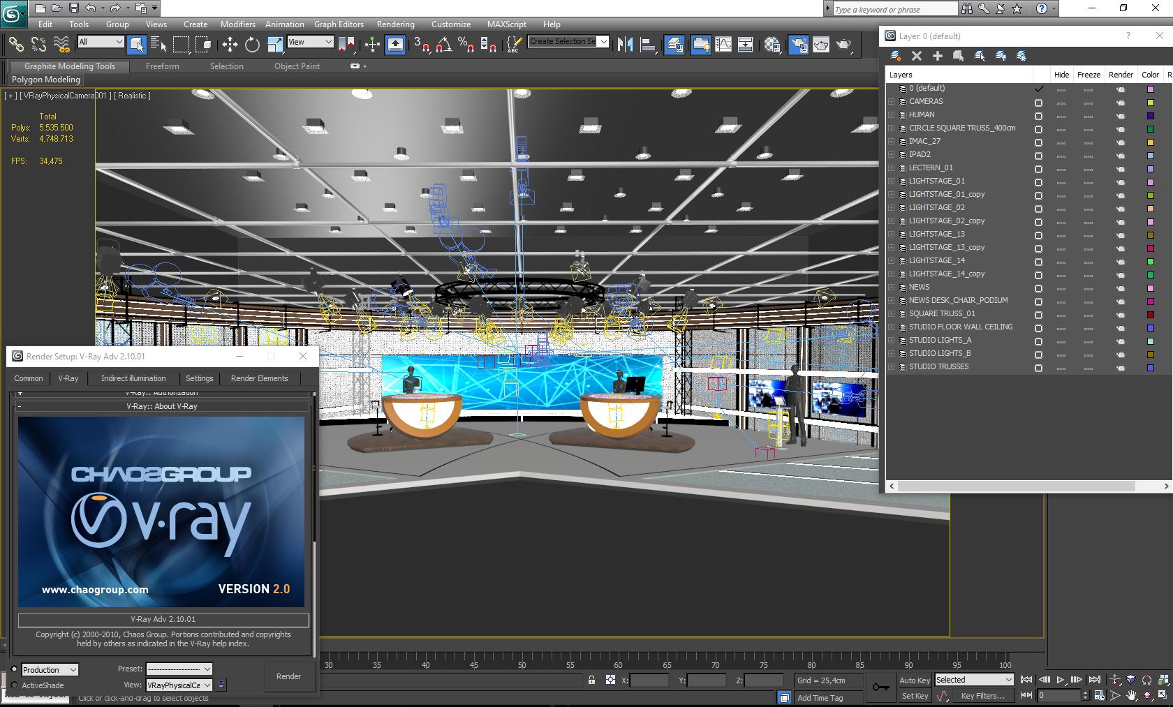 виртуал телевизийн студи цуглуулга vol 6 3d загвар max dxf dwg fbx obj 223414