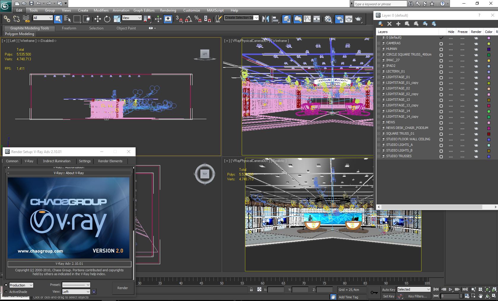 виртуал телевизийн студи цуглуулга vol 6 3d загвар max dxf dwg fbx obj 223415