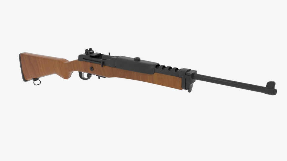 ruger mini 14 ranch rifle 3d model campuran 223431