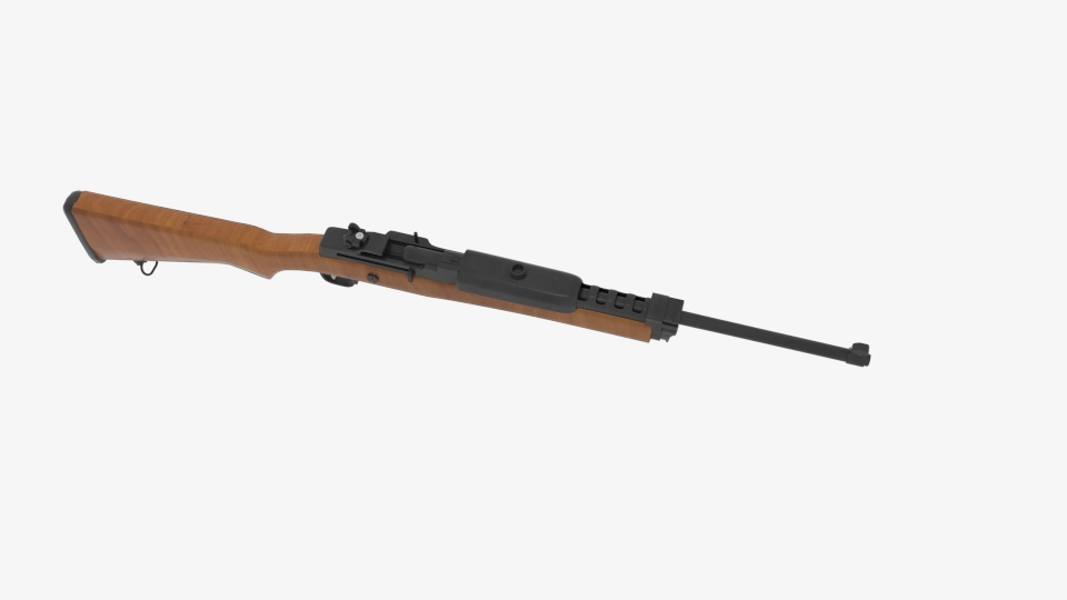 ruger mini 14 ranch rifle 3d model blend 223432