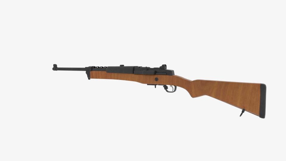 ruger mini 14 ranch rifle 3d model blend 223433