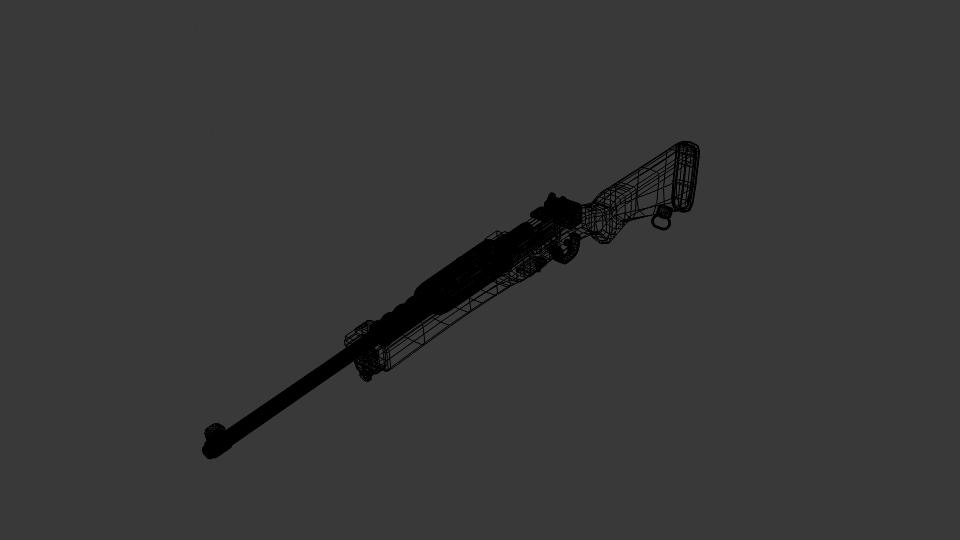 ruger mini 14 ranch rifle 3d model blend 223436