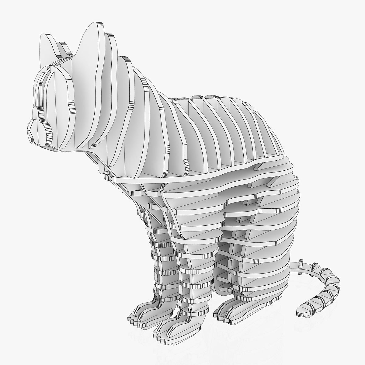 teka-teki kucing 1 3d model 3ds max dxf dwg fbx dae obj 223461