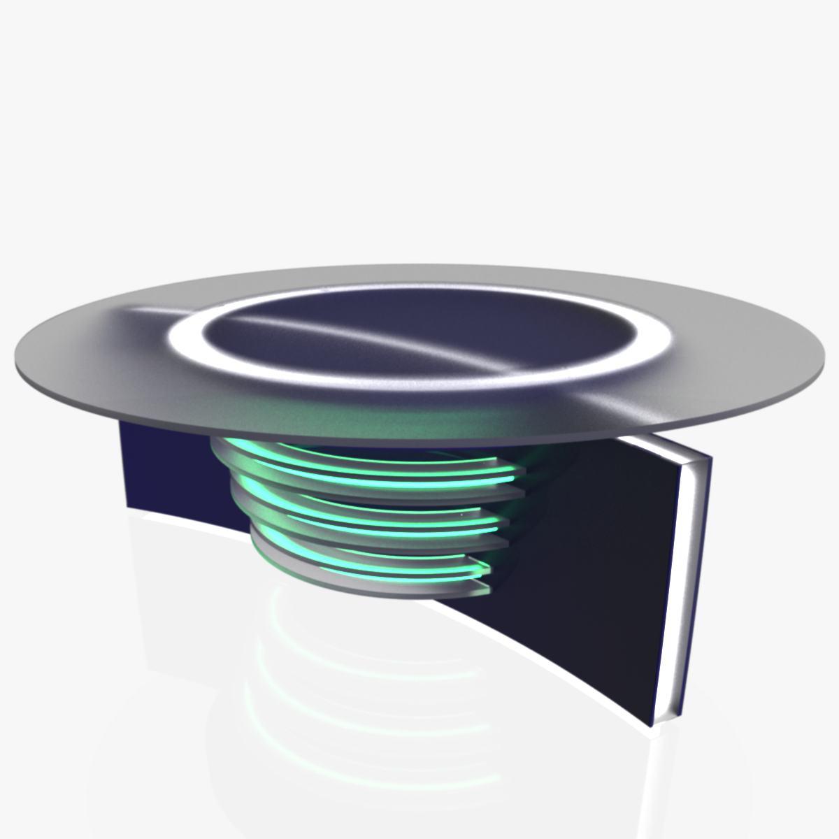 Virtual Tv Studio News Desk 6 3d Model Chair Tv 3ds Max Dxf Fbx  # Meuble Tv Nesx