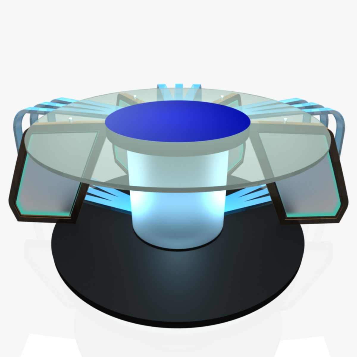 Virtual Tv Studio News Desk 7 3d Model Furniture 3d Models  # Meuble Tv Nesx