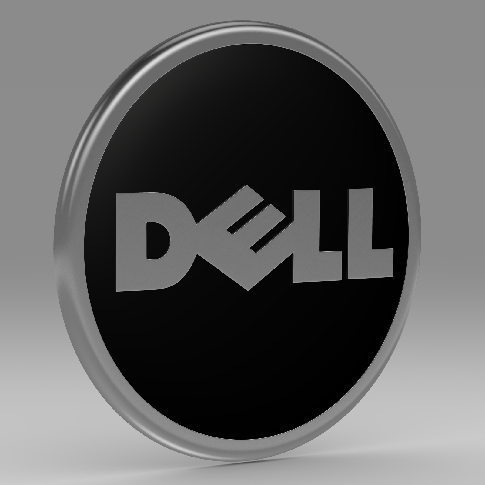 dell logo 3d model 3ds fbx c4d am ychydig o hrc xsi obj