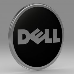 Dell logo 3d model 3ds fbx c4d lwo lws lw ma mb  obj