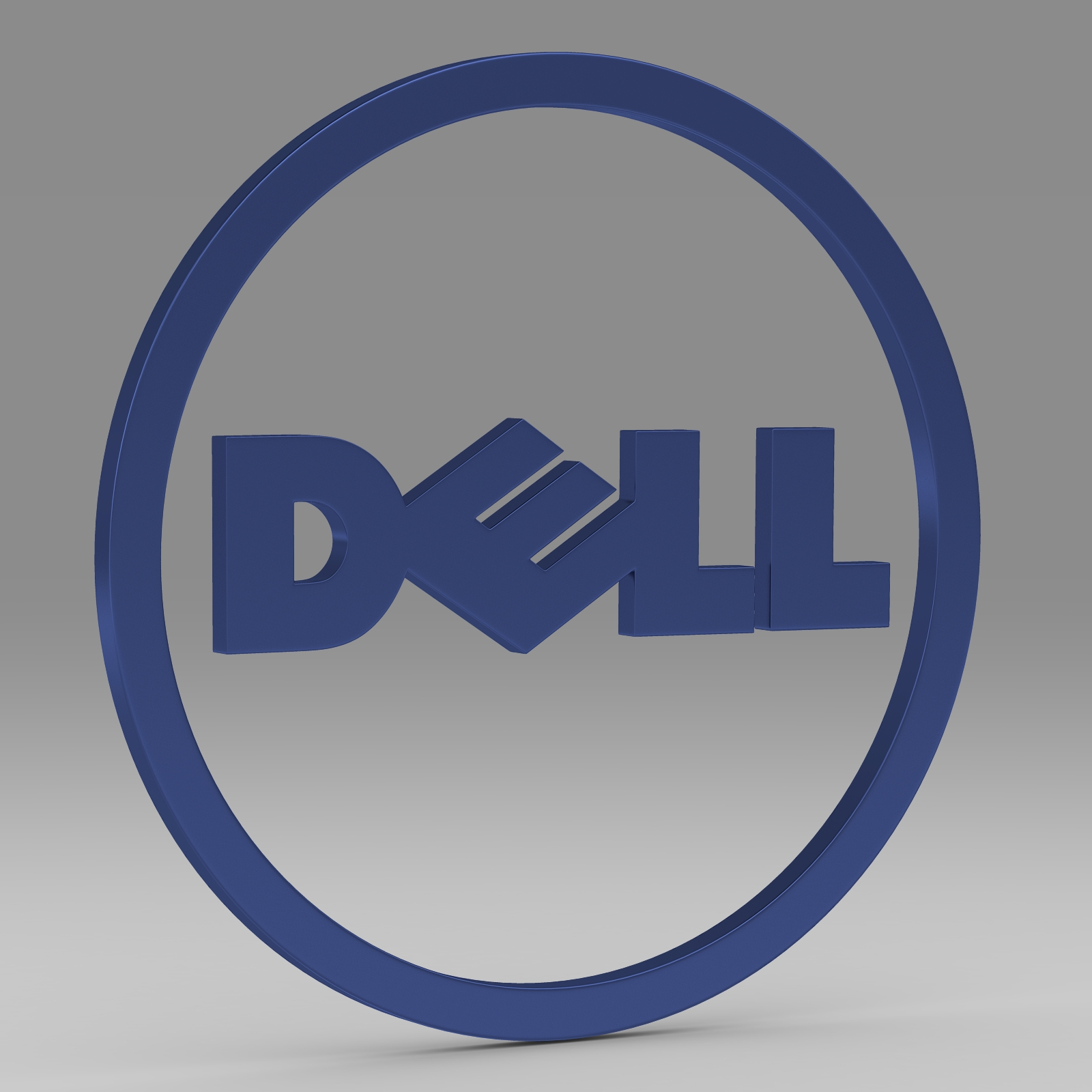 dell logo 2 3d model 3ds fbx c4d lwo ma mb hrc xsi obj 223625