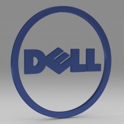 Dell logo 2 3d model 3ds fbx c4d lwo lws lw ma mb   obj