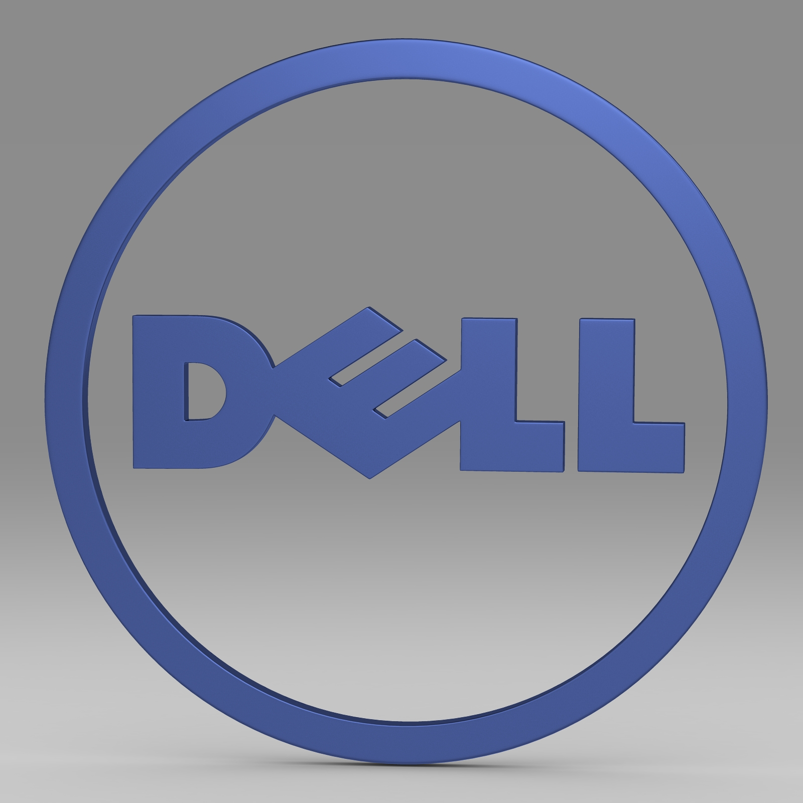dell logo 2 3d model 3ds fbx c4d lwo ma mb hrc xsi  obj 223626