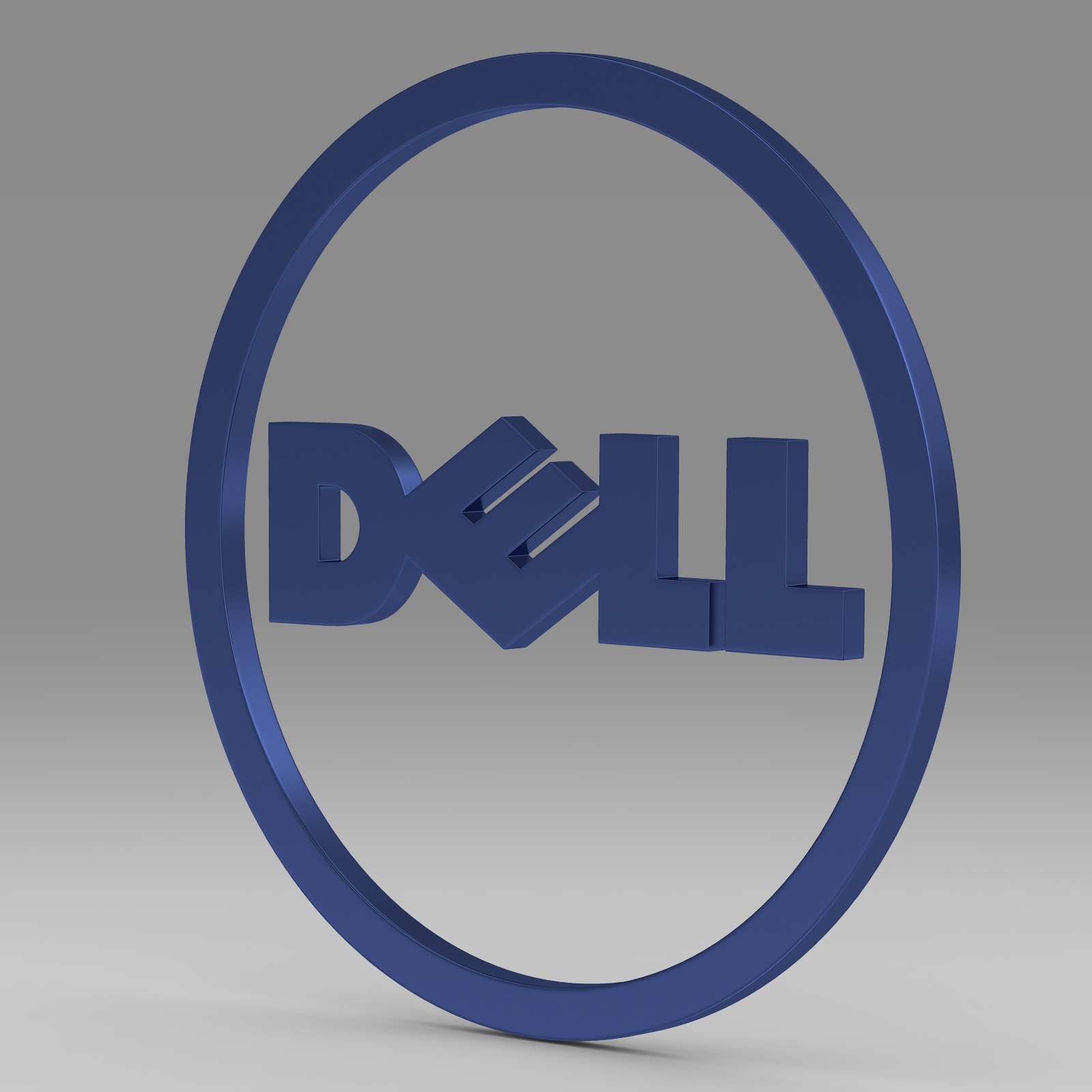 dell logo 2 3d model 3ds fbx c4d lwo ma mb hrc xsi  obj 223627