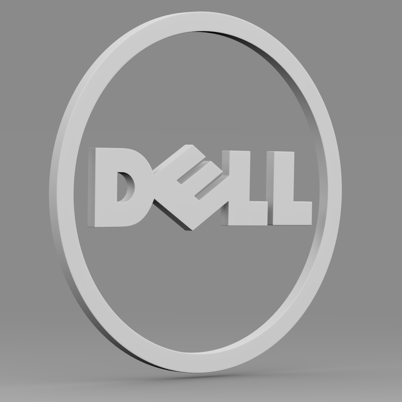 dell logo 2 3d model 3ds fbx c4d lwo ma mb hrc xsi  obj 223628