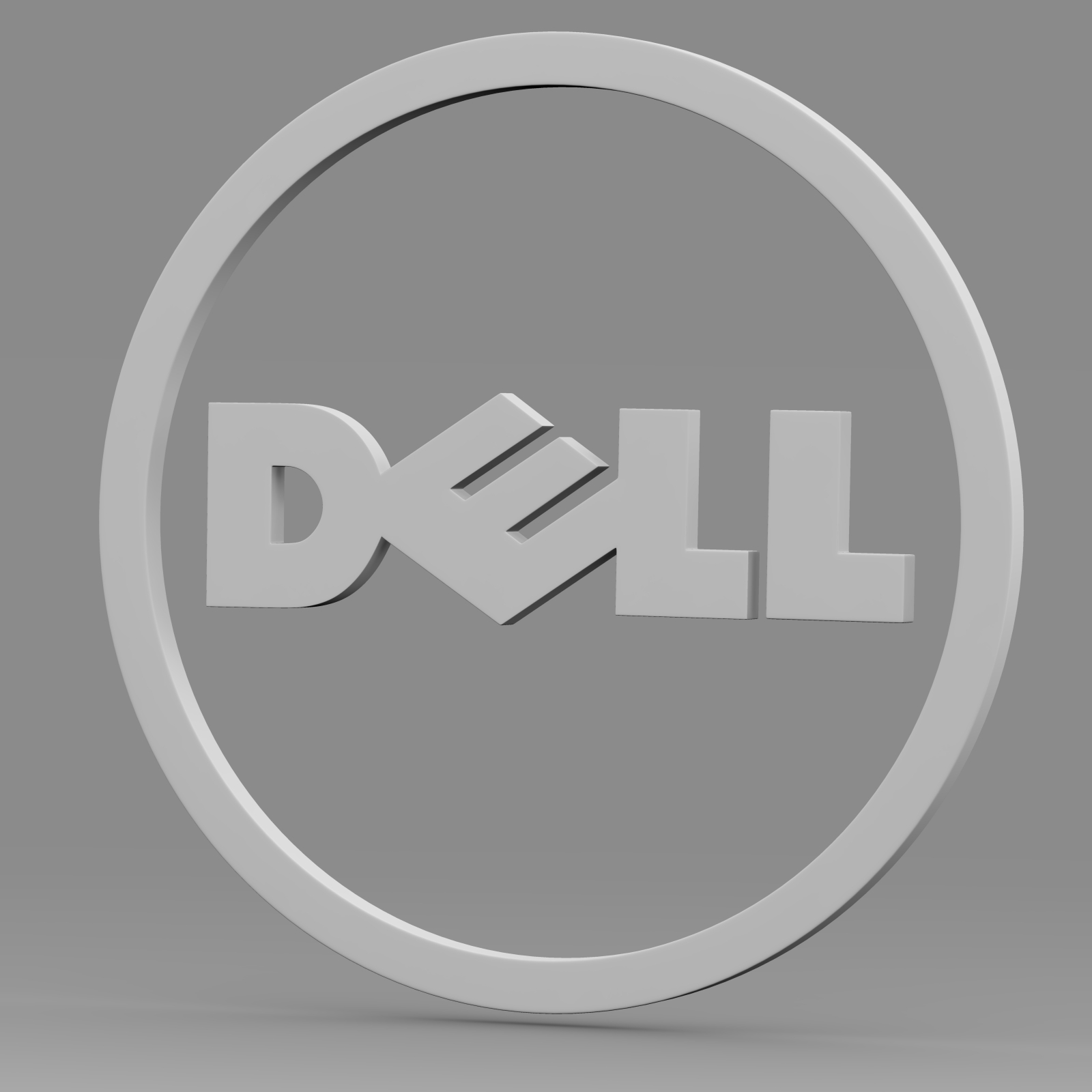dell logo 2 3d model 3ds fbx c4d lwo ma mb hrc xsi  obj 223629