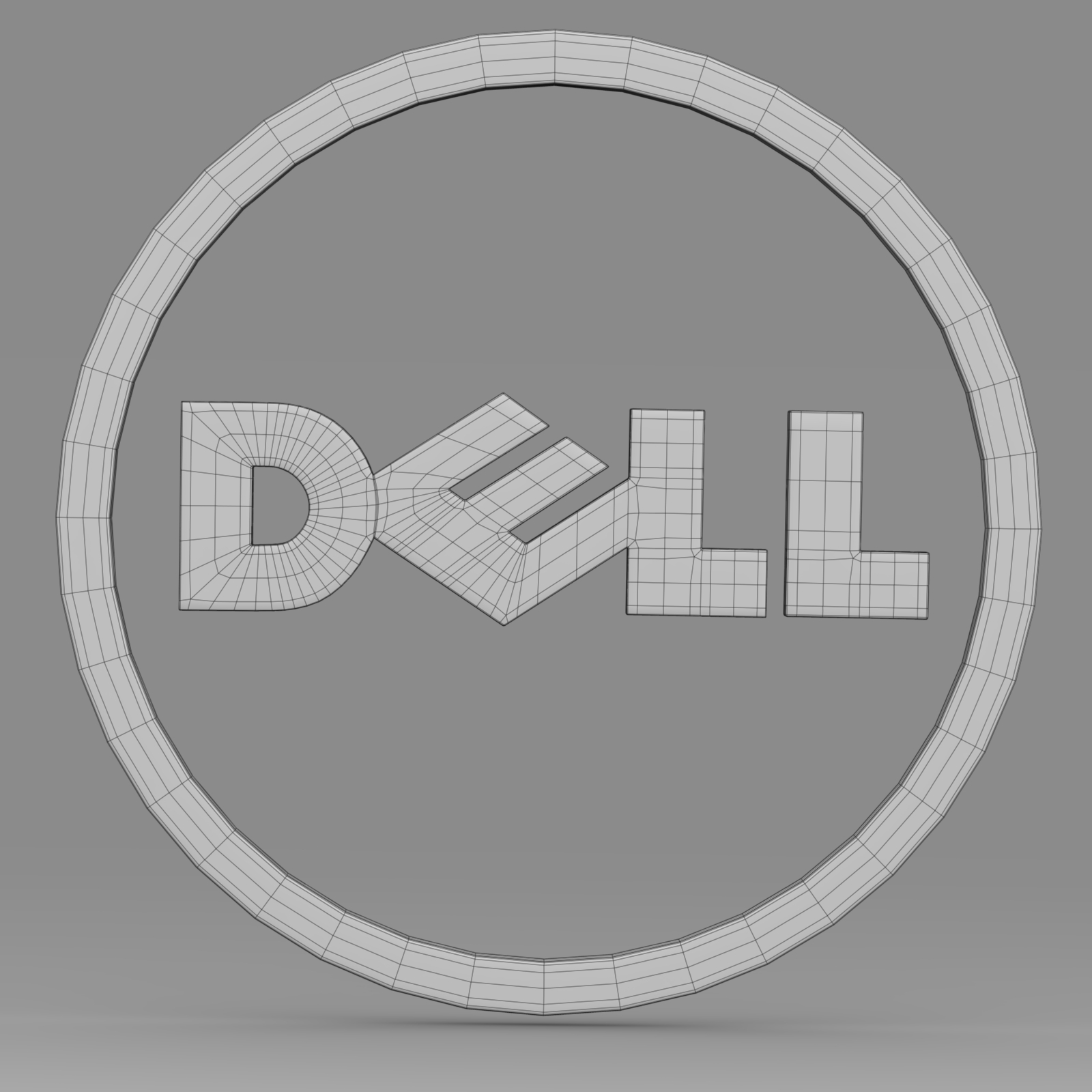 dell logo 2 3d model 3ds fbx c4d lwo ma mb hrc xsi  obj 223630
