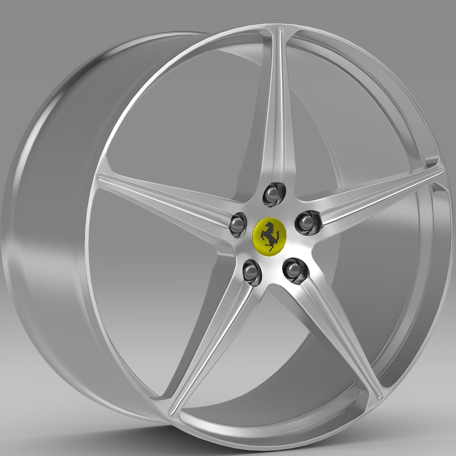 Ferrari 458 Spider rim 3d model 3ds fbx c4d lwo lws lw ma mb  obj 223640