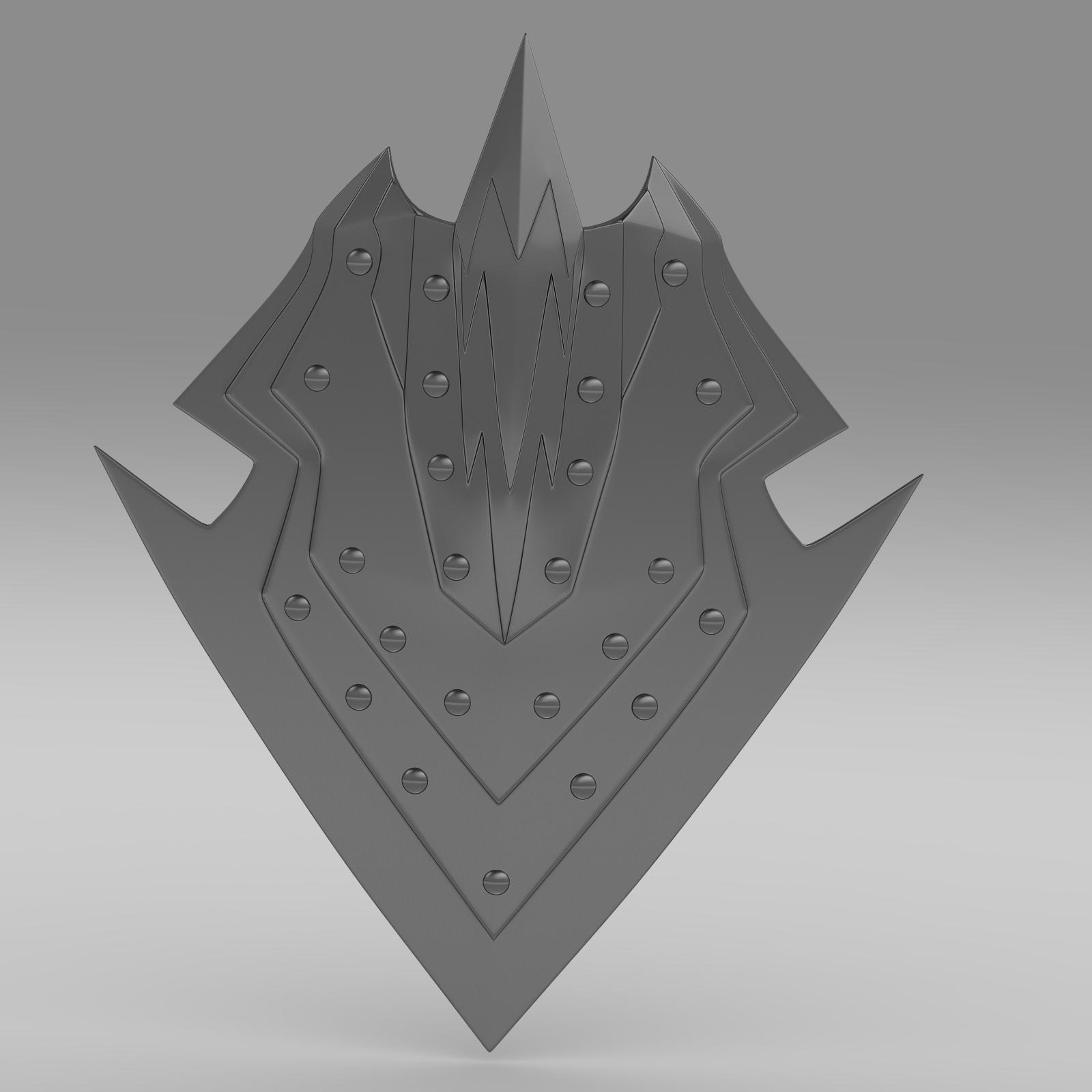 orcish shield 3d model 3ds fbx c4d lwo ma mb hrc xsi obj 223648