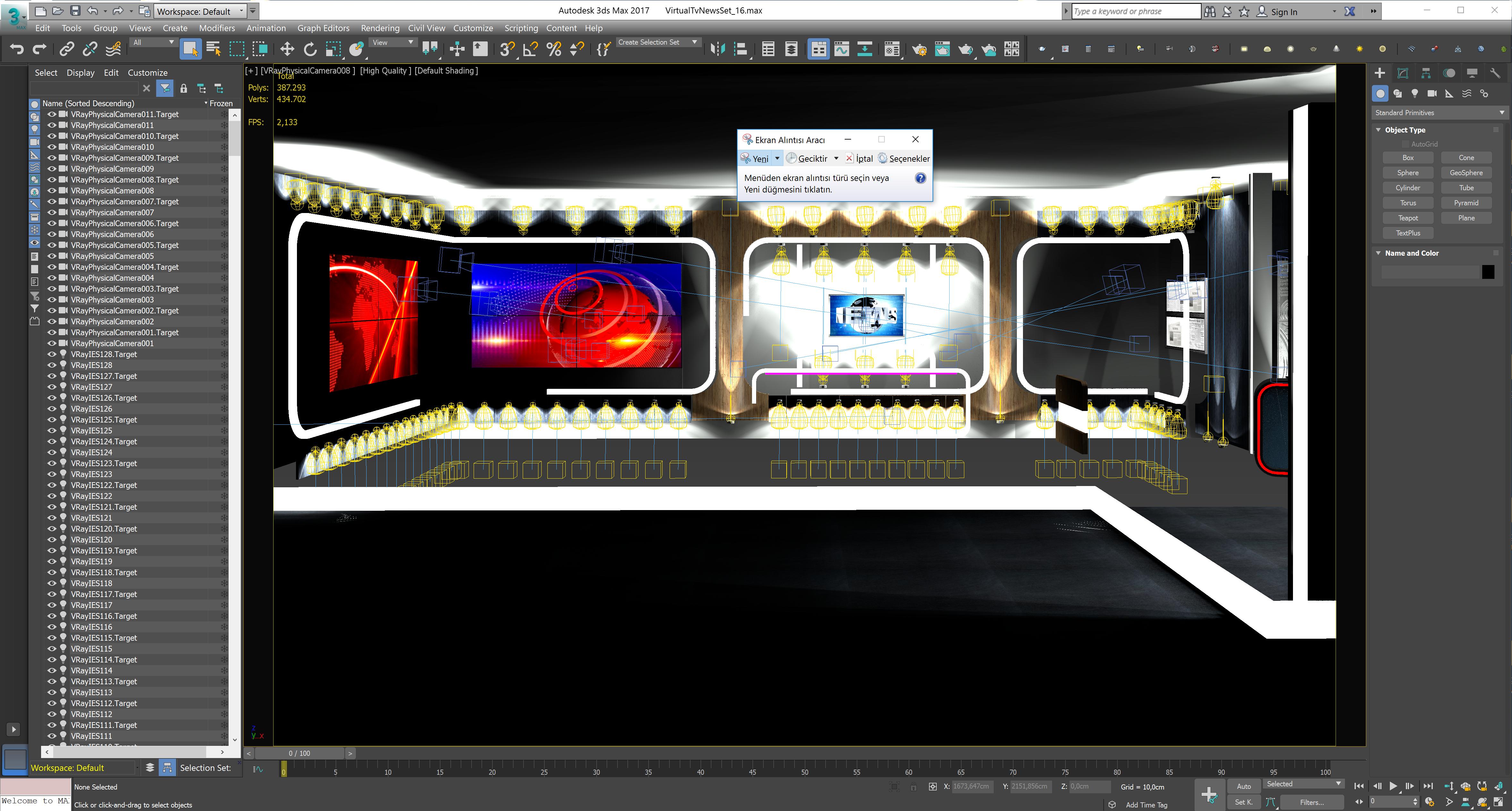 virtual tv studio news set 16 3d model 3ds max dxf fbx obj 223699