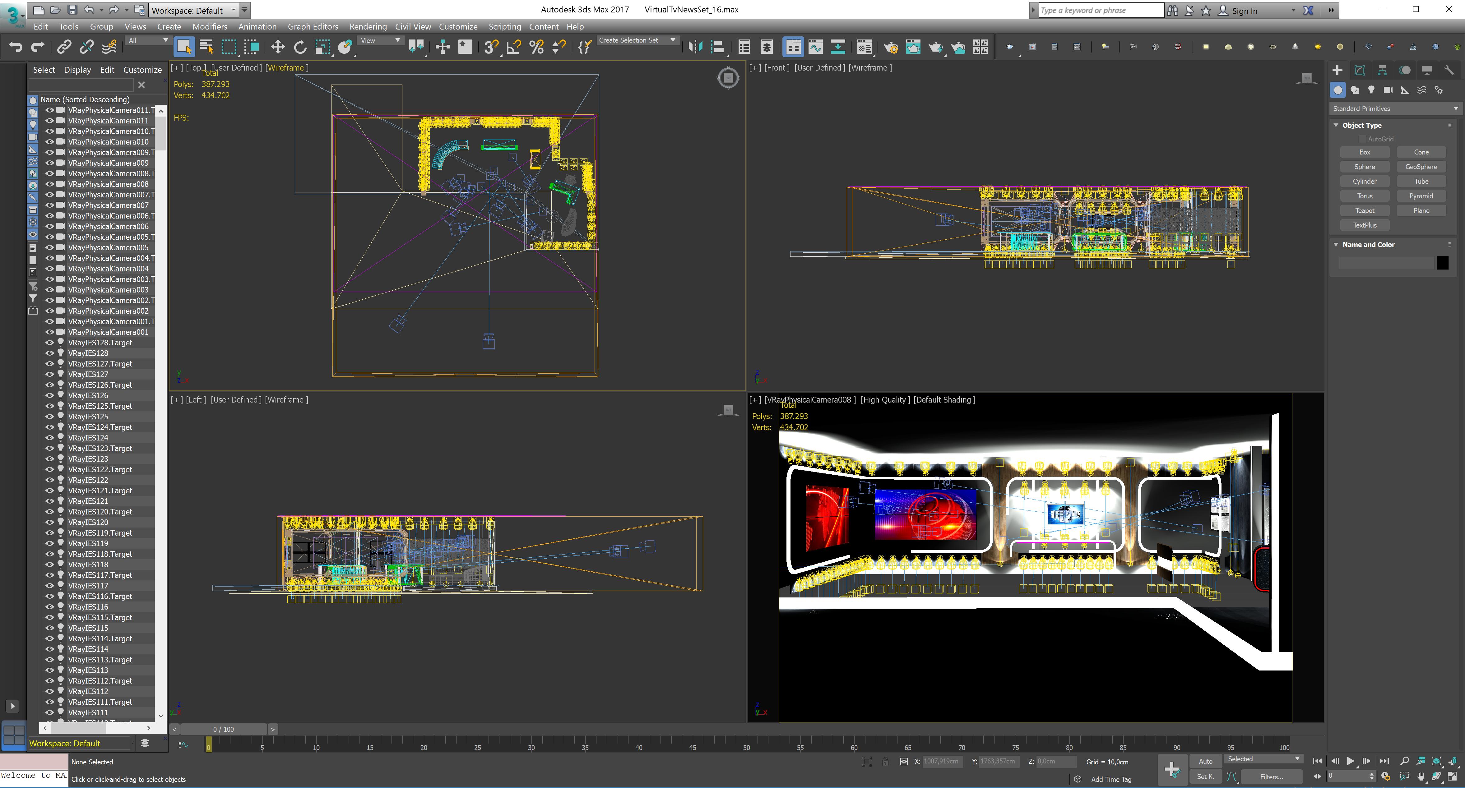 virtual tv studio news set 16 3d model 3ds max dxf fbx obj 223700