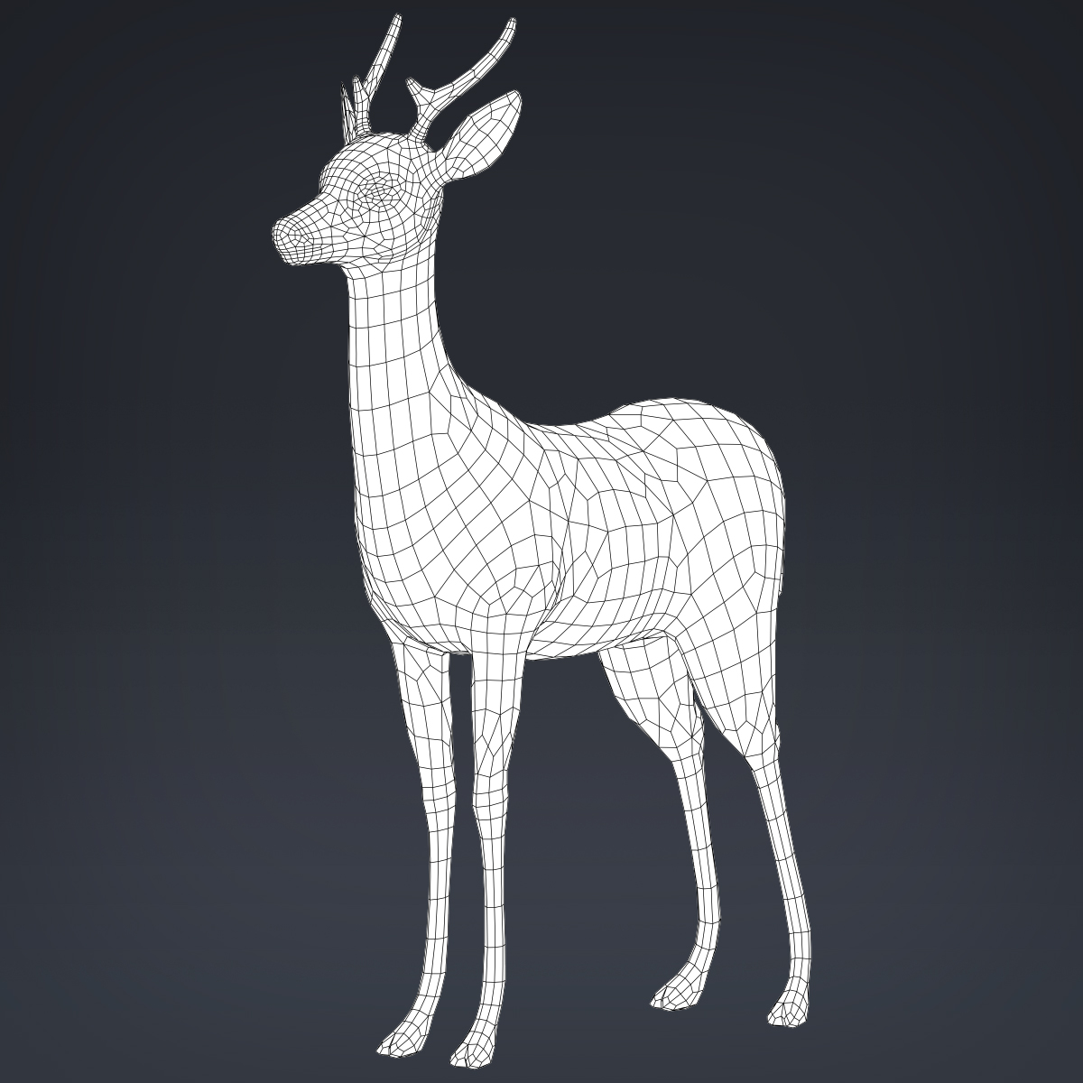 low poly realistic deer 3d model max fbx c4d ma mb obj 223717