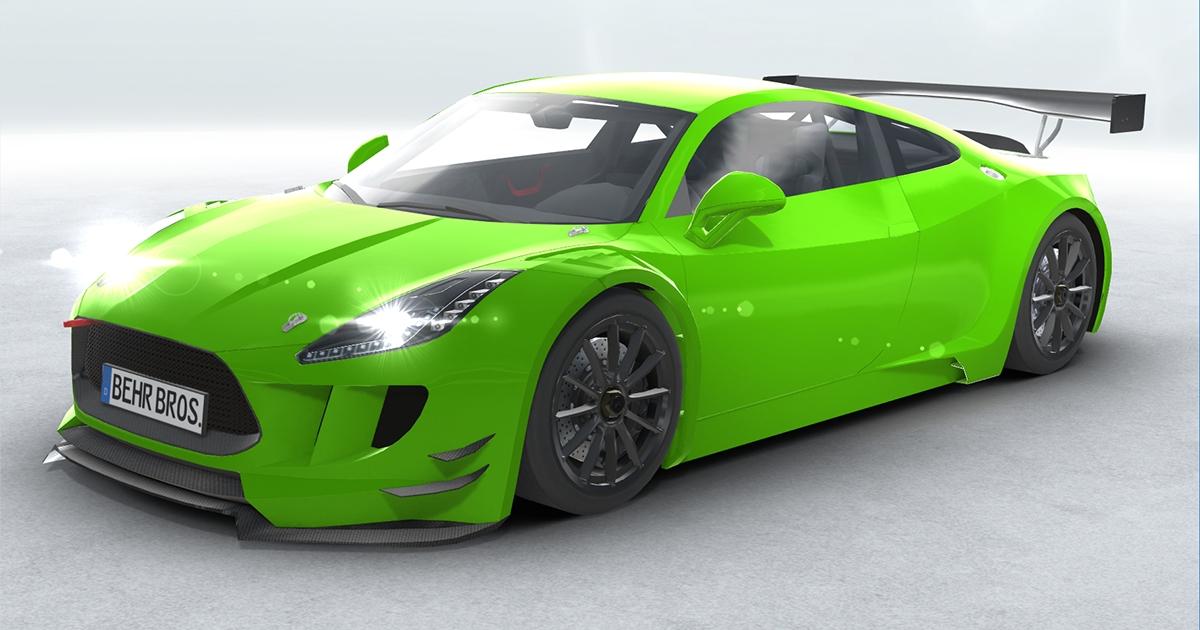 generički sportski automobil gt3 u stvarnom vremenu 3d model 3ds max fbx c4d
