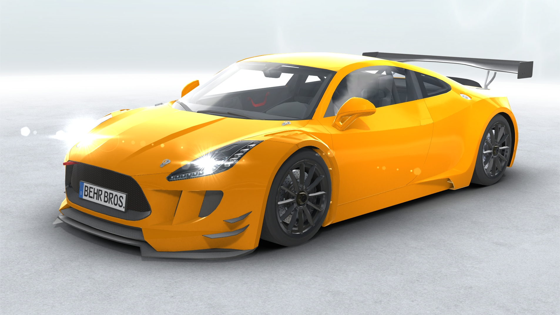 generic sports car gt3 realtime 3d model 3ds max fbx c4d lwo ma mb other obj 223728