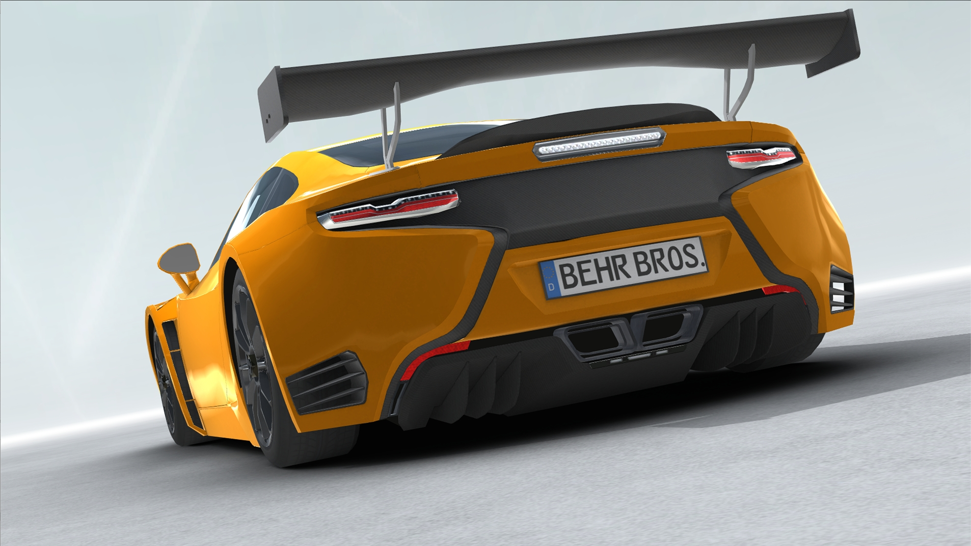 generic sports car gt3 realtime 3d model 3ds max fbx c4d lwo ma mb other obj 223730