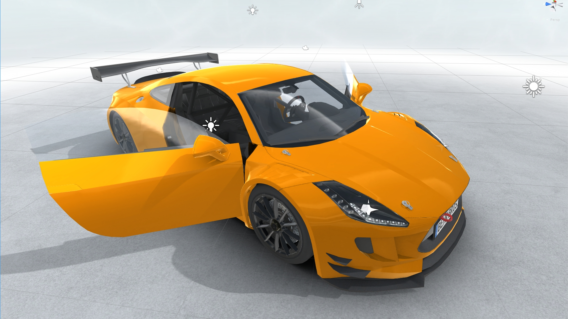 generic sports car gt3 realtime 3d model 3ds max fbx c4d lwo ma mb other obj 223731