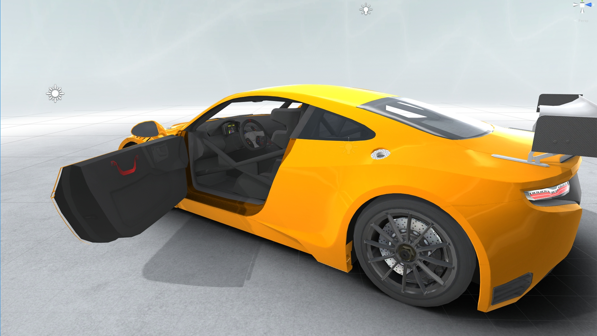 generic sports car gt3 realtime 3d model 3ds max fbx c4d lwo ma mb other obj 223732