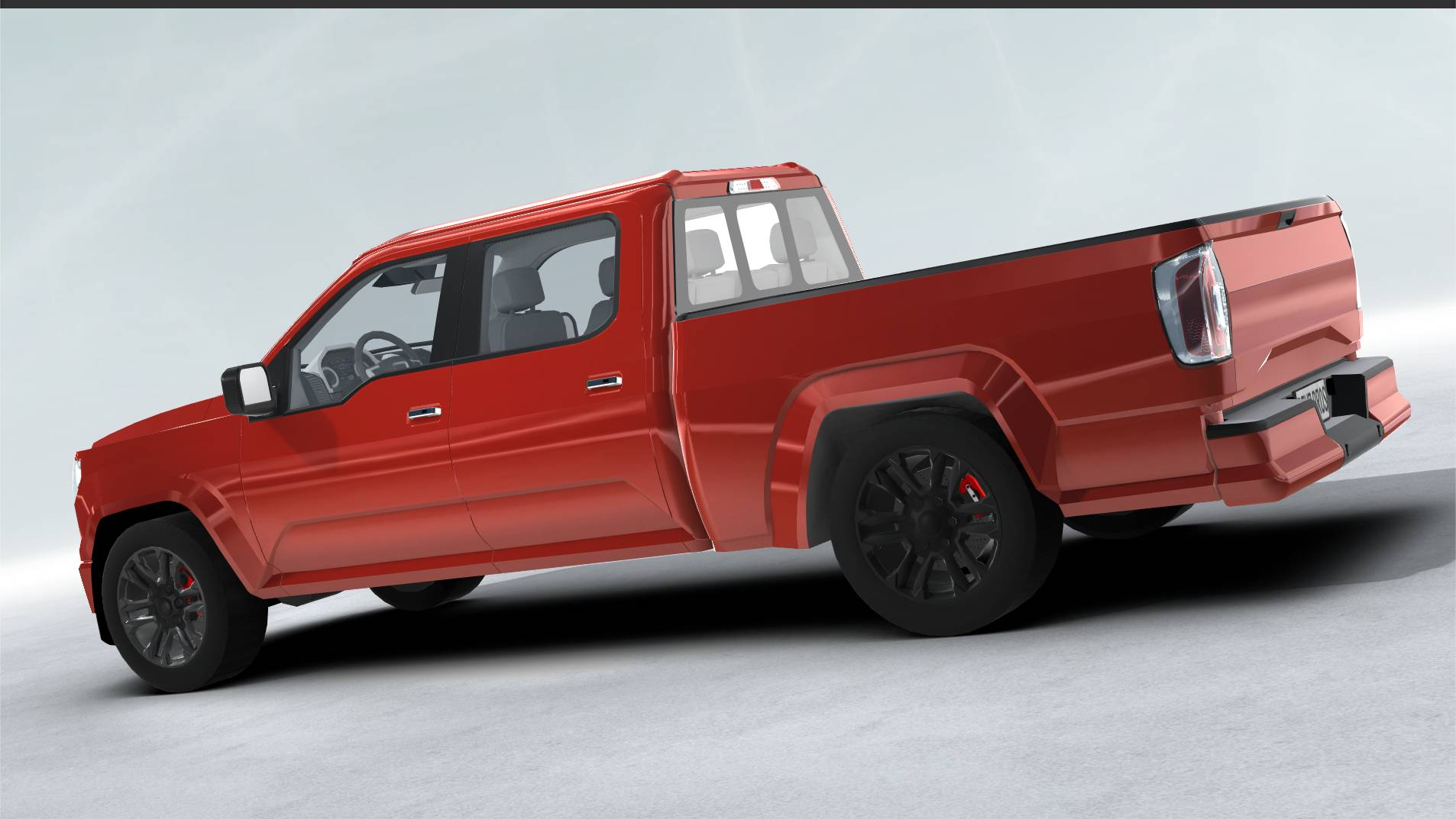 generic pickup realtime 3d model 3ds max fbx c4d lwo ma mb other obj 223794