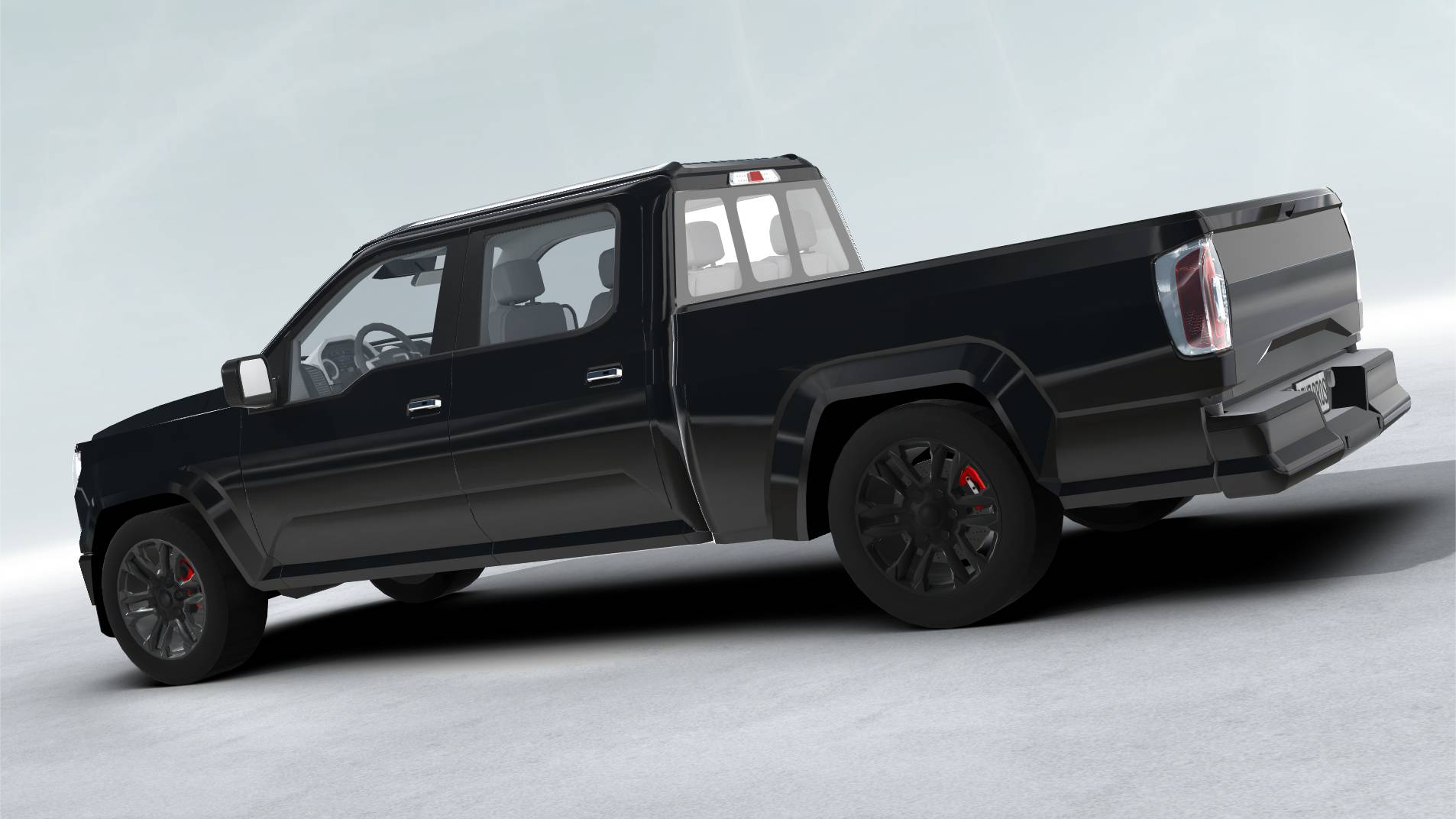 generic pickup realtime 3d model 3ds max fbx c4d lwo ma mb other obj 223796