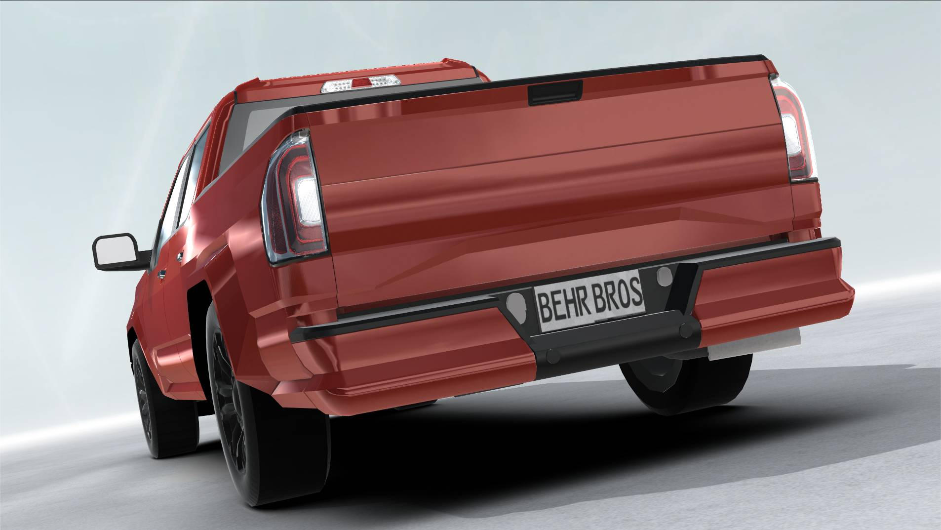 generic pickup realtime 3d model 3ds max fbx c4d lwo ma mb other obj 223797