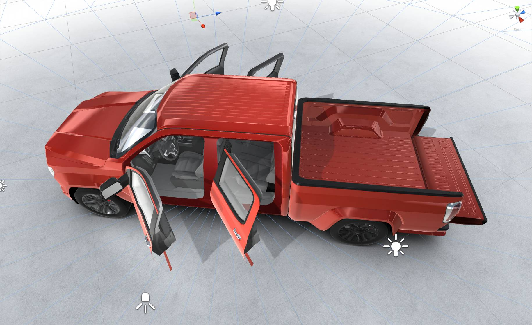 generic pickup realtime 3d model 3ds max fbx c4d lwo ma mb other obj 223799