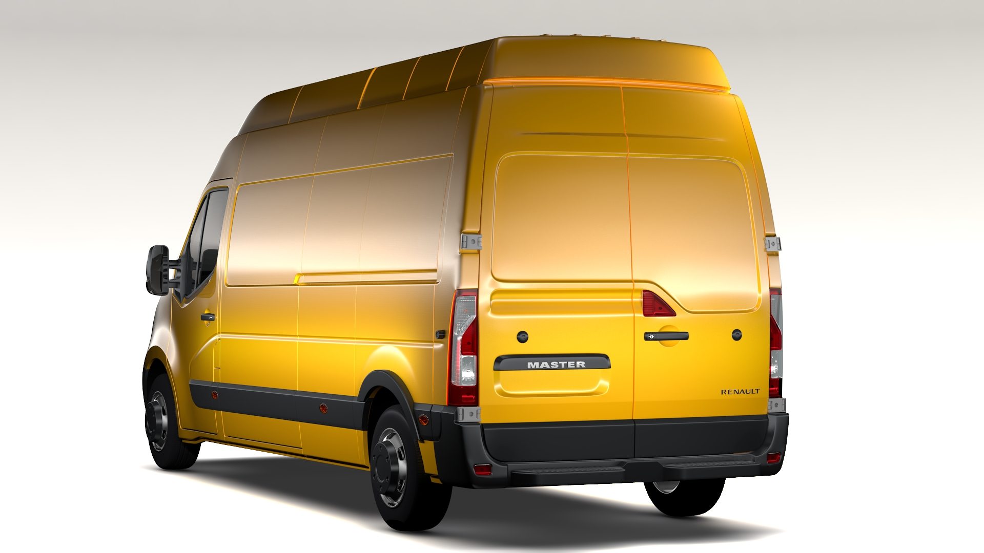 renault master l3h3 van 2010 3d model buy renault master. Black Bedroom Furniture Sets. Home Design Ideas