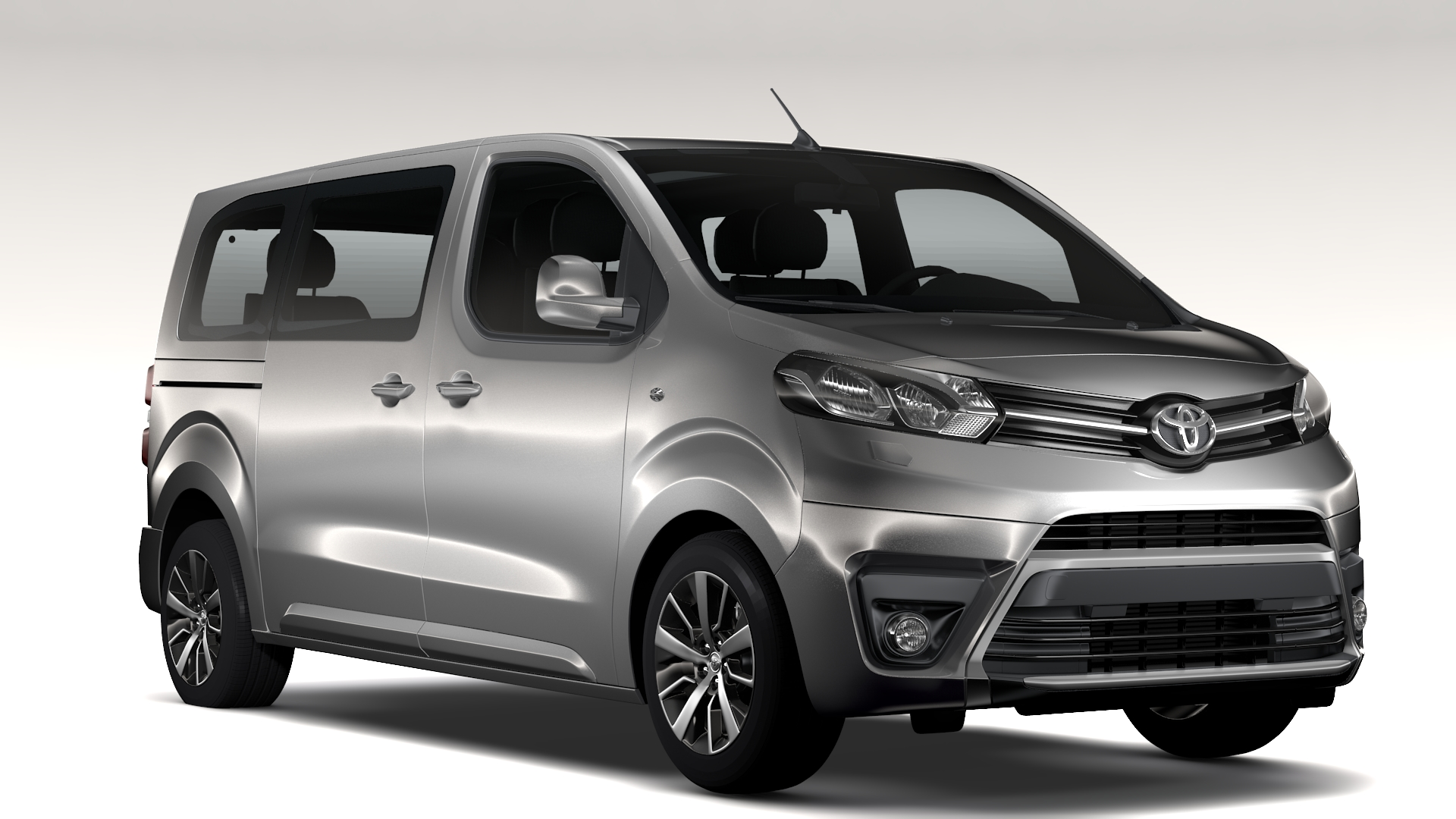 toyota proace verso l2 2017 3d model buy toyota proace verso l2 2017 3d model flatpyramid. Black Bedroom Furniture Sets. Home Design Ideas