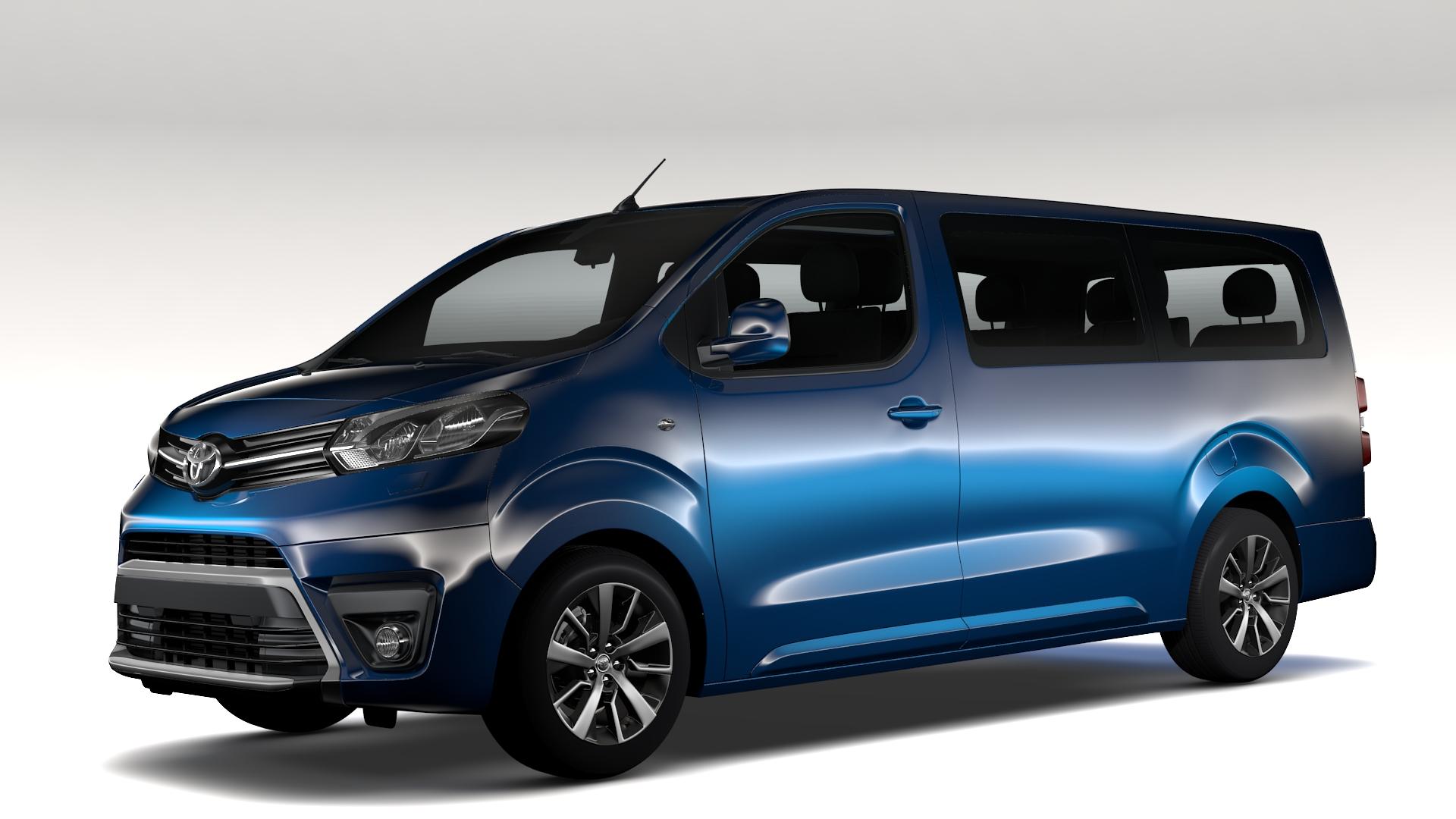 Toyota Proace Verso L3 2017 3d Model Buy Toyota Proace