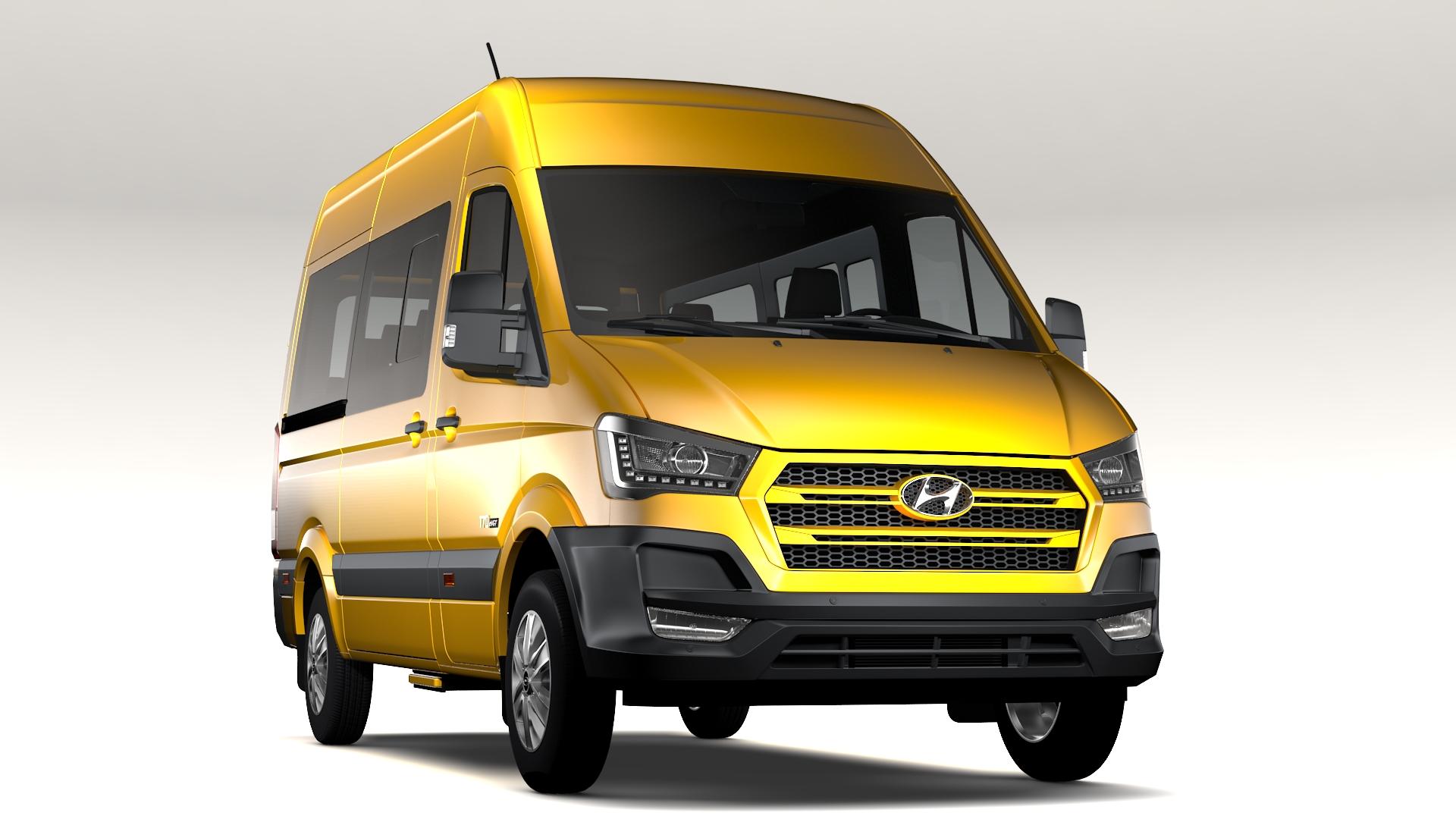 hyundai h350 minibus swb 2017 3d model 3ds max fbx c4d lwo ma mb hrc xsi obj 224188