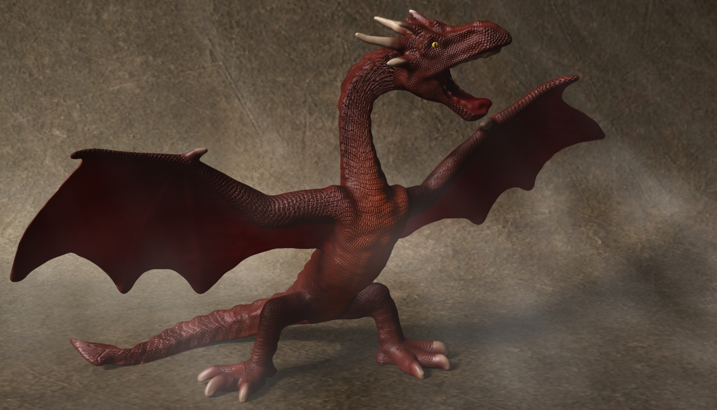 red dragon rigged 3d model max fbx  obj 224251