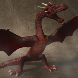 Red Dragon Rigged 3d model max fbx  obj