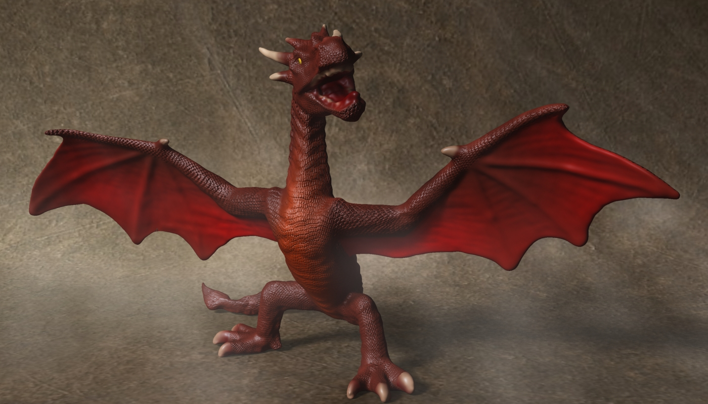 red dragon rigged 3d model max fbx  obj 224252